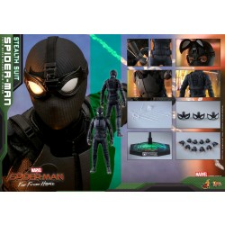 Hot Toys Spider-Man: Far From Home 1/6 Scale Spider-Man (Stealth Suit) Normal Version