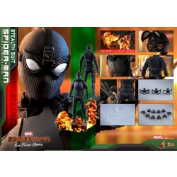 Hot Toys Spider-Man: Far From Home 1/6 Scale Spider-Man (Stealth Suit) Deluxe Version