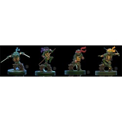 Quantummechanix (QMx) Teenage Mutant Ninja Turtles (TMNT) Q-Figs Set of 4