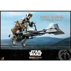 Hot Toys The Mandalorian 1/6 Scale Scout Trooper & Speeder Bike
