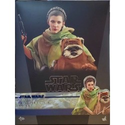 Hot Toys Star Wars: Return of the Jedi 1/6 Scale Princess Leia and Wicket