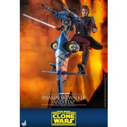 Hot Toys Star Wars: The Clone Wars 1/6 Scale Anakin Skywalker and STAP Set Exclusive Version