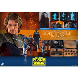 Hot Toys Star Wars: The Clone Wars 1/6 Scale Anakin Skywalker and STAP Set Normal version