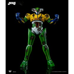 King Arts Diecast Scene Series Battle Damaged Steel Jeeg
