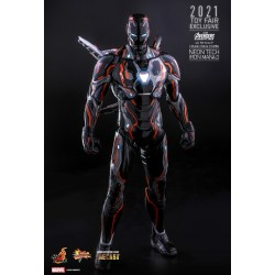 Hot Toys 2021 Toy Fair Exclusive Avengers: Infinity War 1/6 Scale Neon Tech Iron Man 4.0