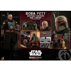 Hot Toys Star Wars: The Mandalorian 1/6 Scale Boba Fett (Repaint Armor) and Throne Normal version