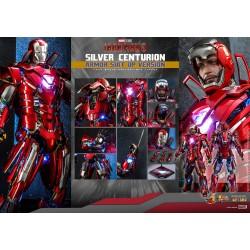 Hot Toys Iron Man 3 1/6 Scale Diecast Silver Centurion Armor Suit Up Version