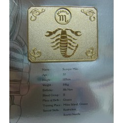 Saint Cloth Myth Scorpio Milo new metal plate