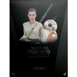Hot Toys Star Wars: The Force Awakens 1/6 Scale Rey and BB-8 Set (FREE shipping)