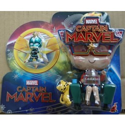 Hot Toys Cosbaby Movbi and Captain Marvel Collectible Set